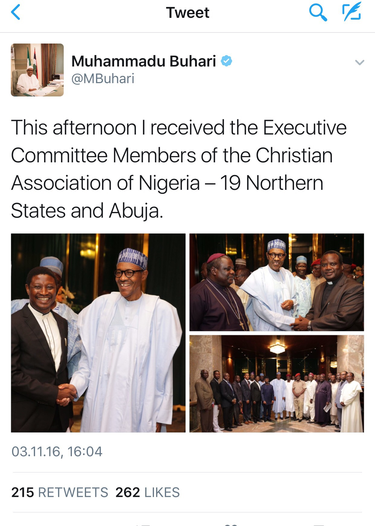 The Christian Association of Nigeria(CAN) Urges President ...